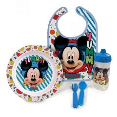 Kit Alimentação Hora Da Papinha Com Babador - Mickey