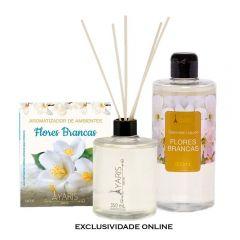 Kit Aromatizante Flores Brancas Yaris - 3 Peças