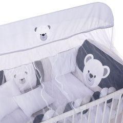 Kit Berço 9 Peças New Americano Yoyo Baby - Urso Mel G Marinho