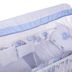Kit Berço 9 Peças New Americano Yoyo Baby - Nuvem Azul Bebe
