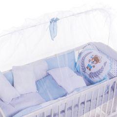 Kit Berço 9 Peças New Basic Yoyo Baby - Urso Silk