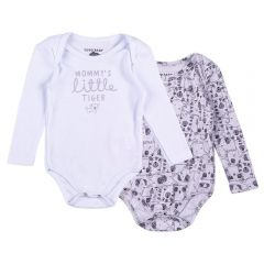 Kit Body de Bebê Yoyo Baby Branco/Estampado