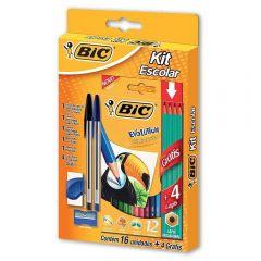 Kit Escolar 16 Peças + 4 Lápis Fashion Bic - 970937