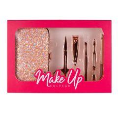 Kit Manicure 6 Peças Make Up Contatho - Rose