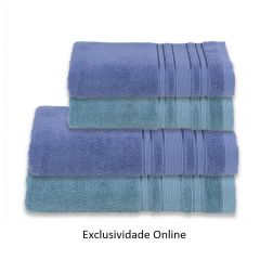 Kit Toalha 4 Peças Madri Havan Azul E Verde - Exclusividade Online