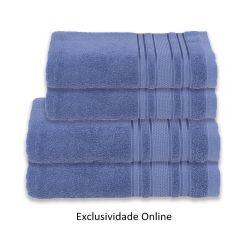 Kit Toalha 4 Peças Madri Havan Azul - Exclusividade Online