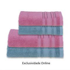 Kit Toalha 4 Peças Madri Havan Rosa E Verde - Exclusividade Online