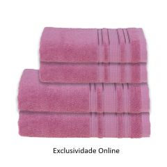 Kit Toalha 4 Peças Madri Havan Rosa - Exclusividade Online