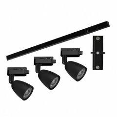 Kit Trilho Spots LED Direct 3x6W Taschibra - Preto