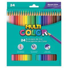 Lápis De Cor Com 24 Cores Multicolor - 11.2400N