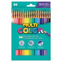 Lápis De Cor Com 36 Cores Multicolor  - 11.3600N