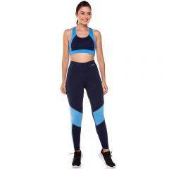 Legging com Recorte Frente Scream Azul/Marinho