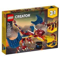 Lego Creator Dragão do Fogo 234 Peças - 31102