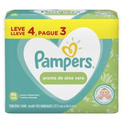 Lenços Umedecidos Pampers Leve 4 Pague 3 - Aloe Vera