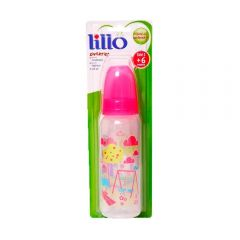 Mamadeira 240ml Divertida Orto Silicone Nº2 +6 Meses Lillo - Rosa