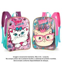 Mochila De Costas Infantil Cindy Luxcel - IS35285CDHV