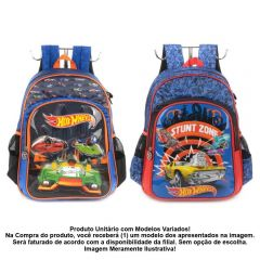 Mochila De Costas Infantil Luxo Hot Wheels Luxcel - IS35941HWVH