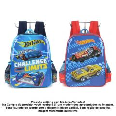 Mochila De Costas Infantil Masculino Hot Wheels Luxcel - IS35931HWHV