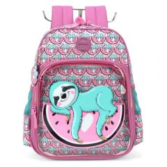 Mochila Infantil Up4you Preguicinha Feminina Luxcel - IS35491UPHV