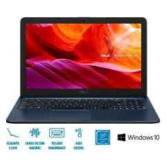 "Notebook Asus Vivobook X543na Celeron/4Gb/500Gb/Win10 15,6"" - Cinza"