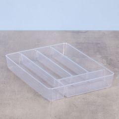 Organizador Diamond com 5 Divisórias Paramount - Transparente