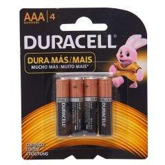 Pilha Palito Alcalina Aaa Com 4 Unidades Duracell - 5104