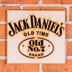 Placa Decorativa Jack Daniel's Forgerini - Amarelo