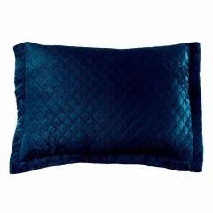 Porta Travesseiro 50Cm X 70Cm Plush 100% Poliéster Yaris - Azul Pacífico