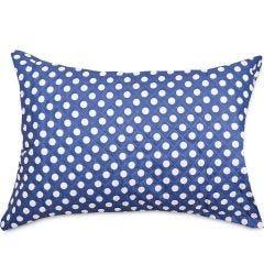 Porta Travesseiro Luma Joy Poá Hedrons - Dots Azul Indigo