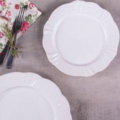 Prato de Sobremesa Soleil White 23cm Oxford - Porcelana