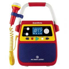 Rádio Portátil Bluetooth Com Karaokê Meu Primeiro Gradiente - GMP104