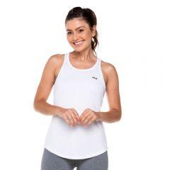 Regata Basic Sports com Estampa Fila  Branco/Preto