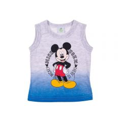 Regata de Bebê Degradê Mickey Mouse Disney Mescla Claro