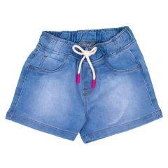 Short 4 a 10 Anos Jeans com Cordão Marmelada Azul