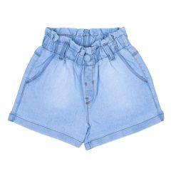 Short 4 a 10 Anos Jeans Papperbag Marmelada Azul Claro