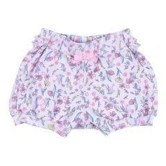 Shorts de Bebê Cotton Floral com Laço Yoyo Baby Estampado