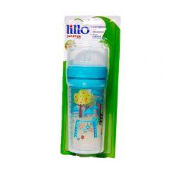 Super Mamadeira 260ml Divertida Bico Silicone Lillo - Azul