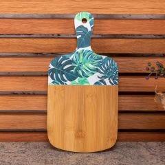 Tábua de Corte Folhas 28cm Finecasa - Bambu