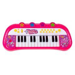 Teclado Piano Musical Infantil Rosa - HBUG003