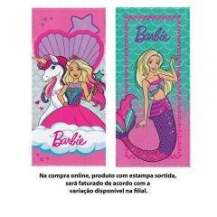 Toalha De Banho Felpuda 60X120cm Barbie Lepper - Sortido