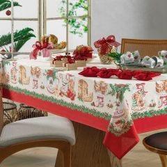 Toalha De Mesa Natal 1,40Mx2,10M  Karsten - Segredos de Receita