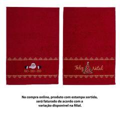 Toalha Lavabo Felpuda Natalina - Laca