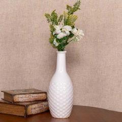 Vaso de Cerâmica 30cm Yaris - Branco