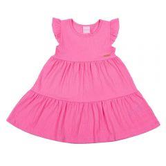 Vestido 1 a 3 Anos Anarruga Maria's Yoyo Kids Rosa Claro