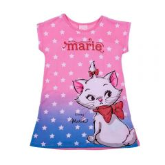Vestido 1 a 3 Anos Gatinha Marie Degradê Disney Dream