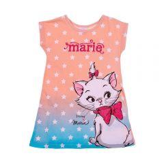 Vestido 1 a 3 Anos Gatinha Marie Degradê Disney Blush