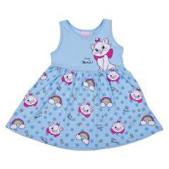 Vestido 1 a 3 Anos Gatinha Marie Disney Aquarela