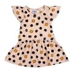 Vestido de Bebê Franzido Estampado Fakini