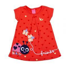 Vestido de Bebê Joaninha Kamylus Acerola