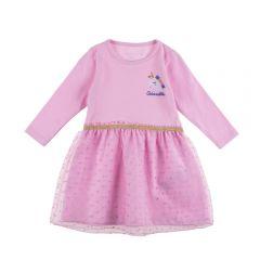 Vestido de Bebê Unicórnio Yoyo Baby Rosa
